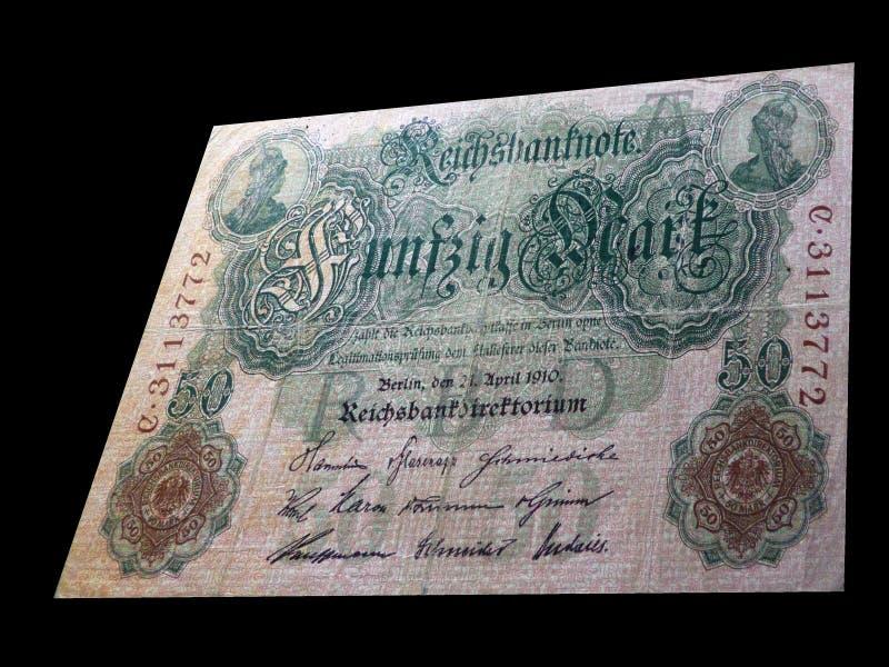 50 teken - Historisch bankbiljet stock fotografie