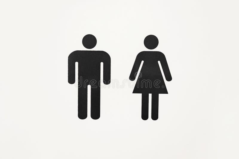 Teken mannelijk en vrouwelijk toilet stock fotografie