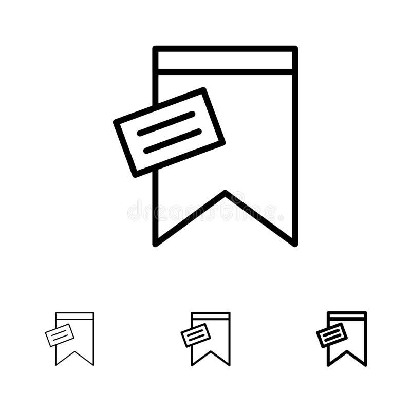 Teken, Markering, Teken, het pictogramreeks van de Tekst Gewaagde en dunne zwarte lijn vector illustratie