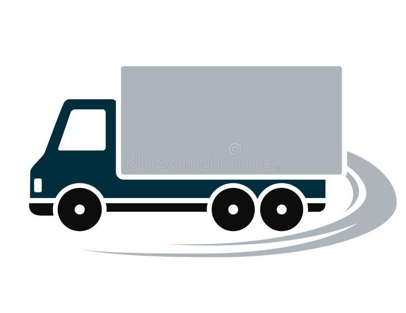 Teken met het verschepen van vrachtwagen vector illustratie