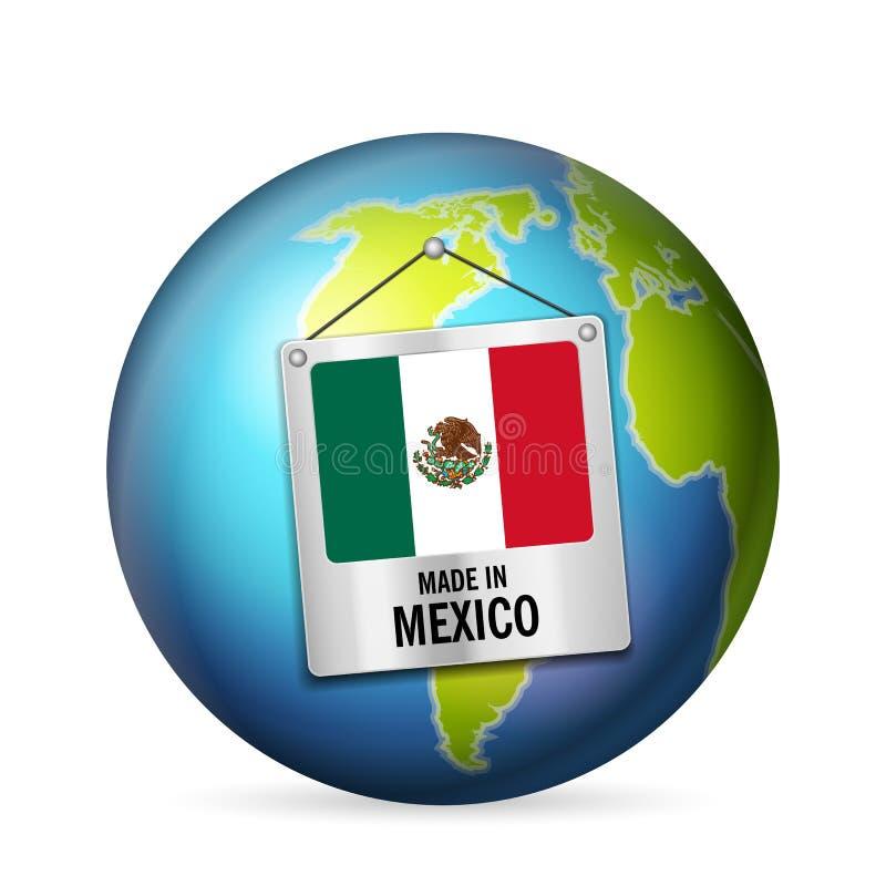Teken in Mexico wordt gemaakt dat stock illustratie
