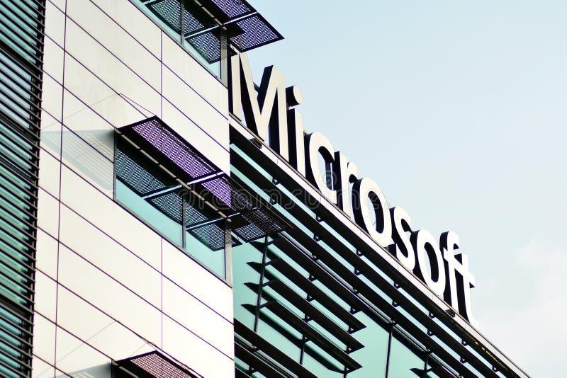 Teken Microsoft Bedrijfuithangbord Microsoft royalty-vrije stock afbeelding