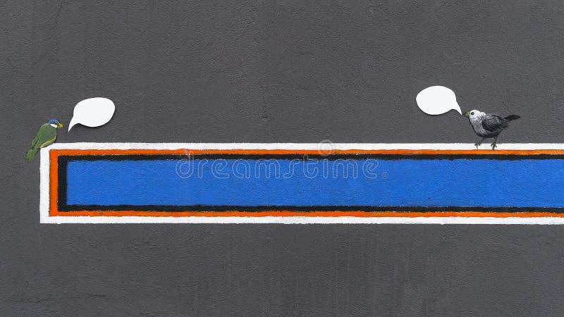Teken op de muur royalty-vrije stock fotografie