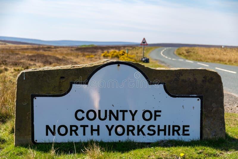 Teken: Provincie van North Yorkshire royalty-vrije stock afbeeldingen