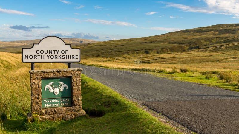 Teken: Provincie van North Yorkshire stock foto's