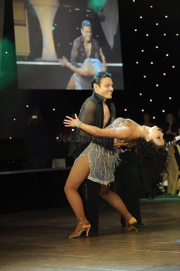 Teken Ramprakash en het Hardy dansen van Karen stock foto