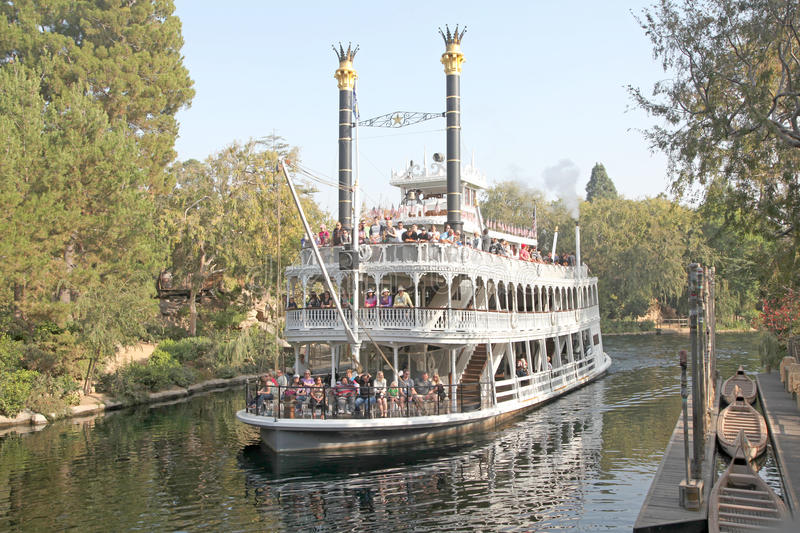 Teken Twain Riverboat stock fotografie