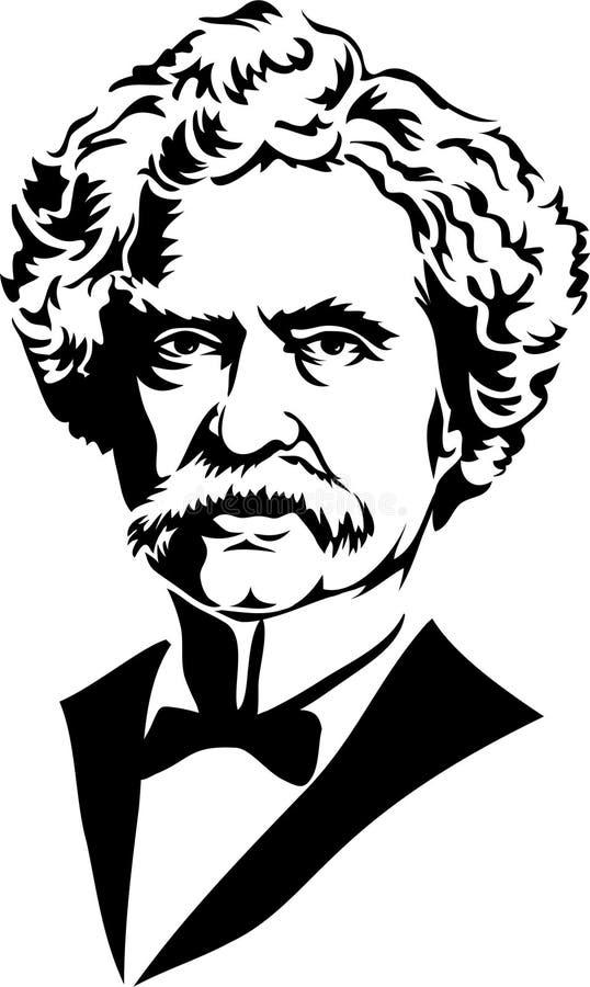 Teken Twain/Samuel Clemens/eps royalty-vrije illustratie