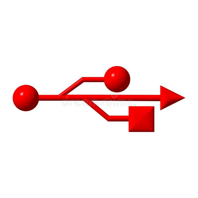 Teken USB vector illustratie