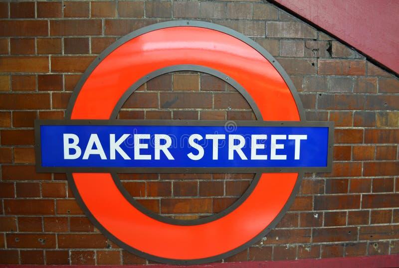 Teken van Baker Street buispost stock afbeelding
