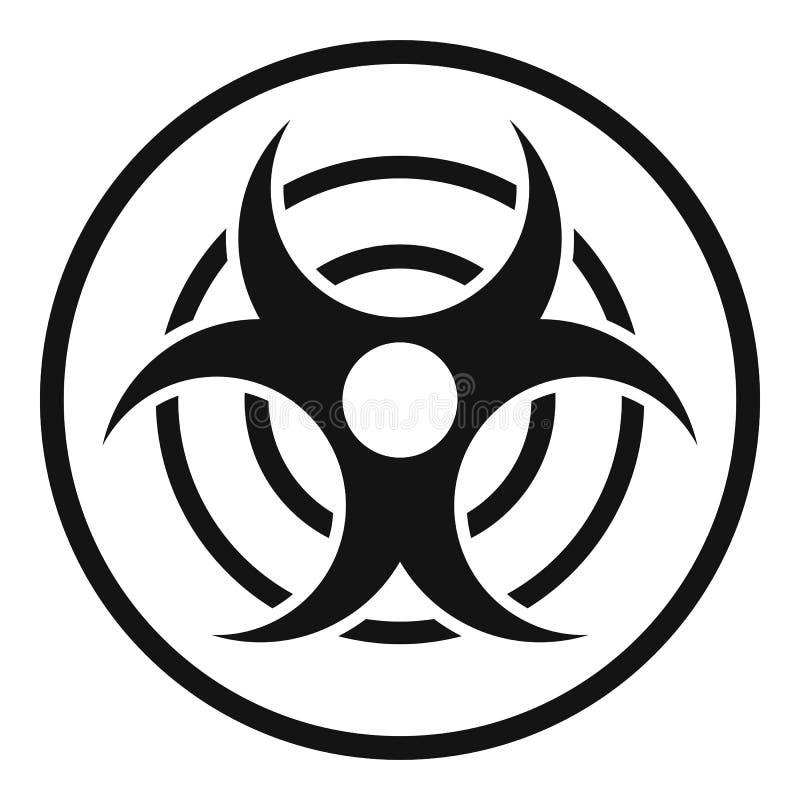 Teken van biologisch bedreigingspictogram, eenvoudige stijl royalty-vrije illustratie
