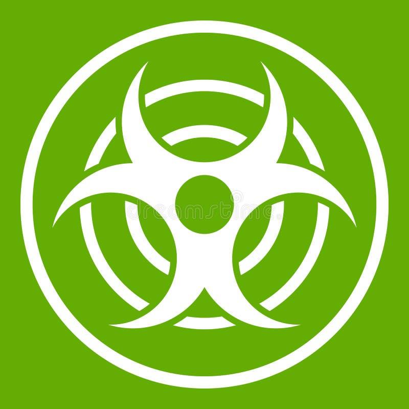 Teken van biologisch groen bedreigingspictogram royalty-vrije illustratie