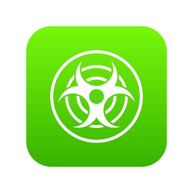 Teken van biologische digitale groen van het bedreigingspictogram vector illustratie