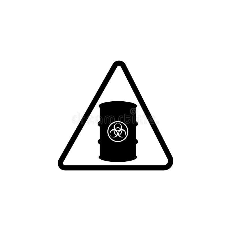 Teken van chemisch reagentiapictogram Element van waarschuwing voor mobiel concept en Web apps Pictogram voor websiteontwerp en o vector illustratie