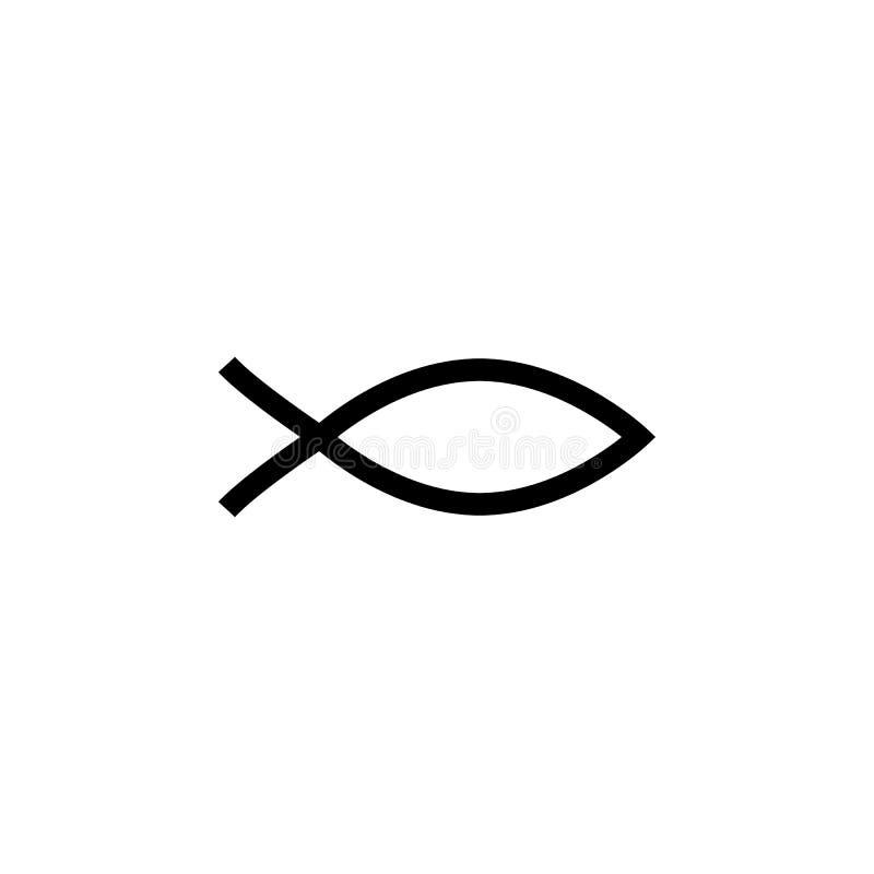 Teken van chrestian vissenpictogram Element van godsdienstig cultuurpictogram Grafisch het ontwerppictogram van de premiekwalitei vector illustratie
