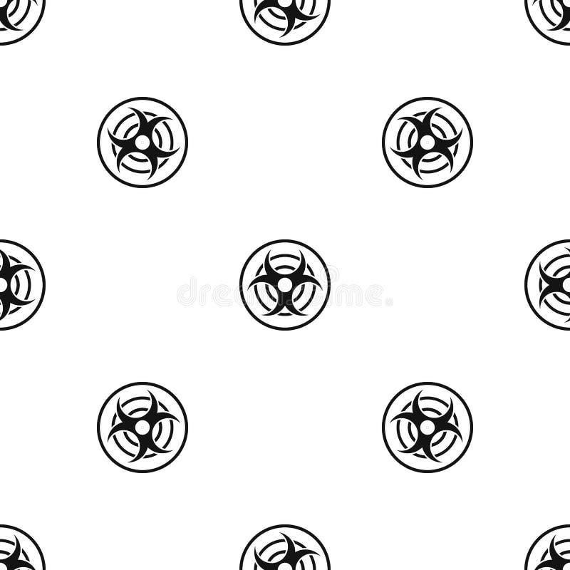 Teken van de biologische naadloze zwarte van het bedreigingspatroon royalty-vrije illustratie