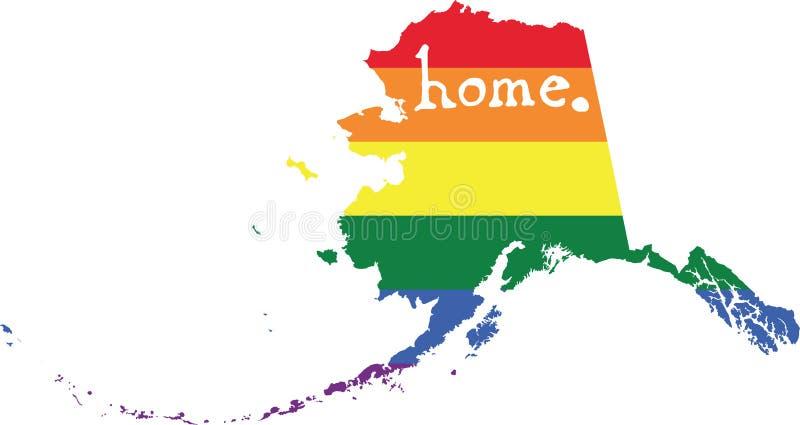 Teken van de de trots vectorstaat van Alaska het vrolijke vector illustratie