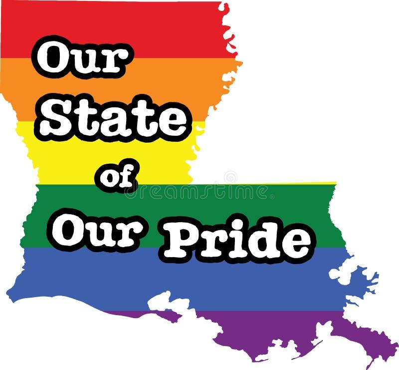 Teken van de de trots vectorstaat van Louisiane het vrolijke royalty-vrije illustratie