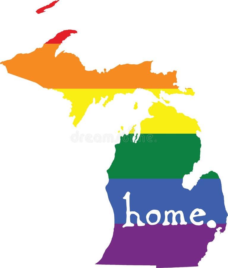 Teken van de de trots vectorstaat van Michigan het vrolijke vector illustratie