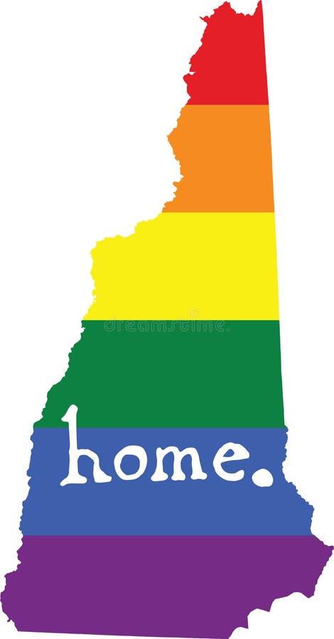 Teken van de de trots vectorstaat van New Hampshire het vrolijke vector illustratie