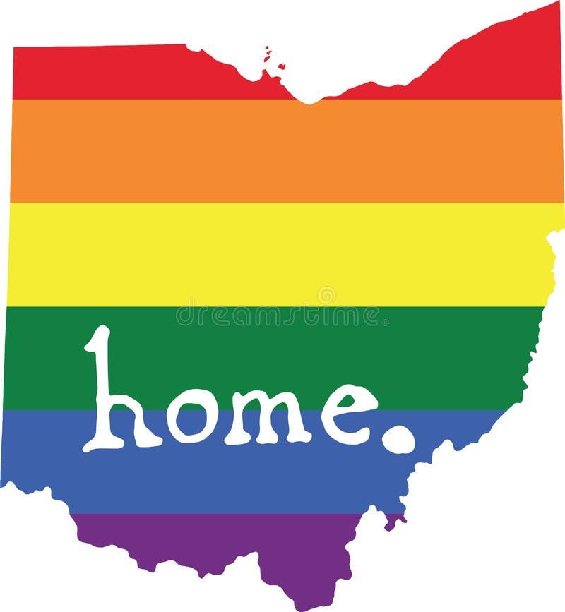 Teken van de de trots vectorstaat van Ohio het vrolijke royalty-vrije illustratie
