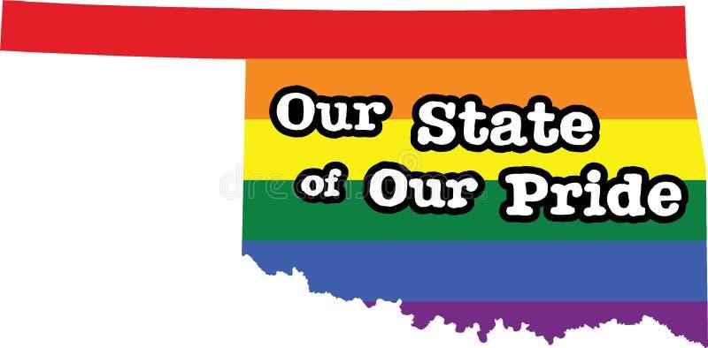 Teken van de de trotsstaat van Oklahoma het vrolijke royalty-vrije illustratie