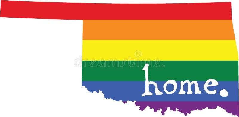 Teken van de de trotsstaat van Oklahoma het vrolijke vector illustratie
