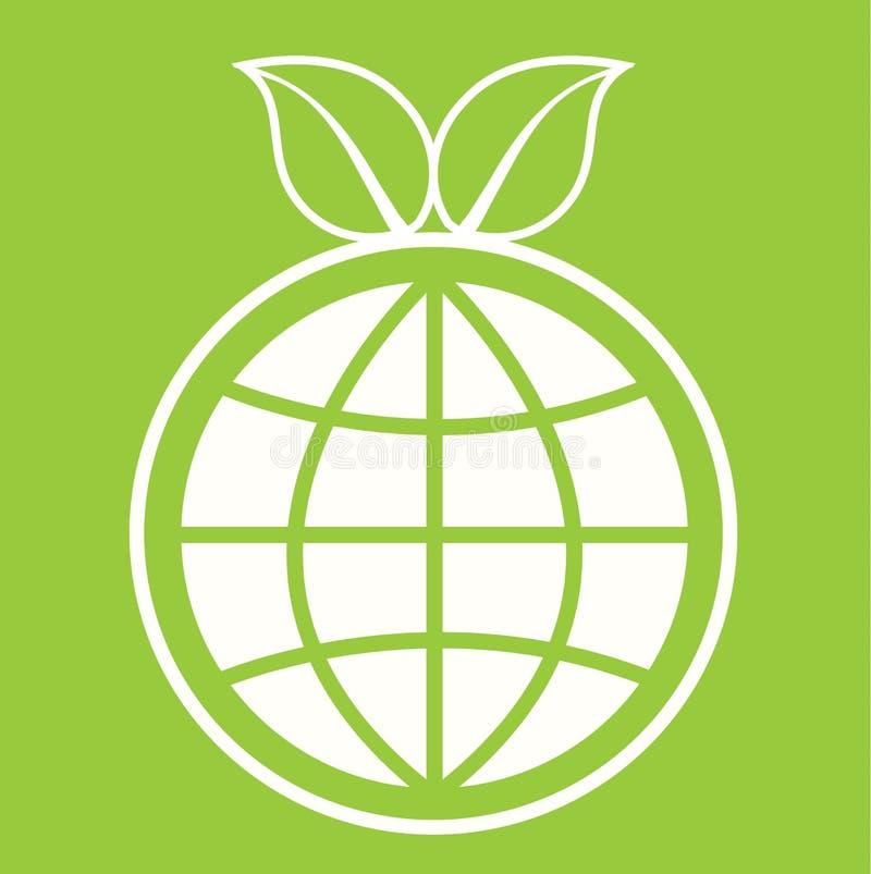 Teken van de Eco het Groene Bol vector illustratie