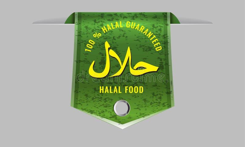 Teken van de Halal het Producten Verklaarde Verbinding met de gladde banner van het Weblint stock illustratie