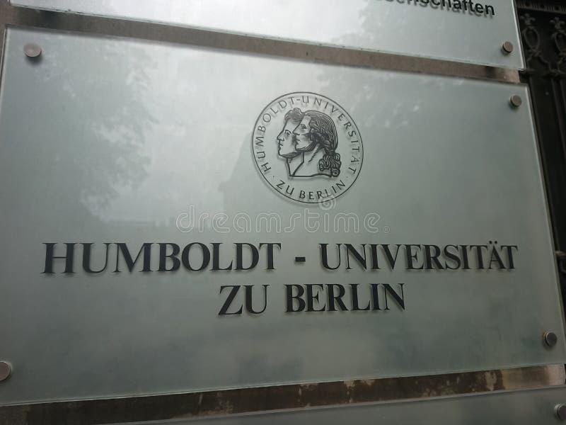 Teken van de Humboldt-Universiteit van Berlijn royalty-vrije stock afbeeldingen