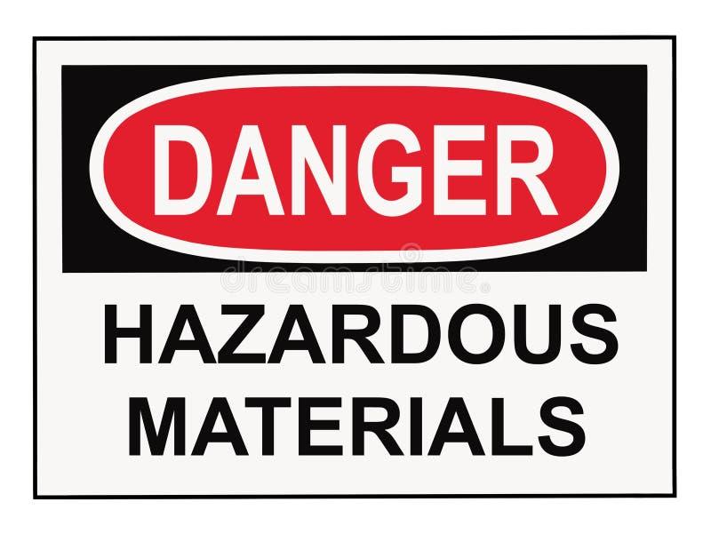 Teken van de Materialen van het gevaar het Gevaarlijke stock foto's