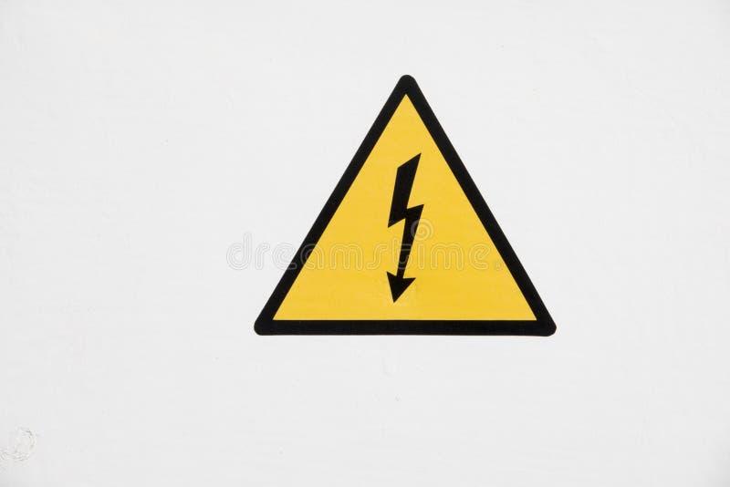 Teken van elektrisch gevaar royalty-vrije stock fotografie