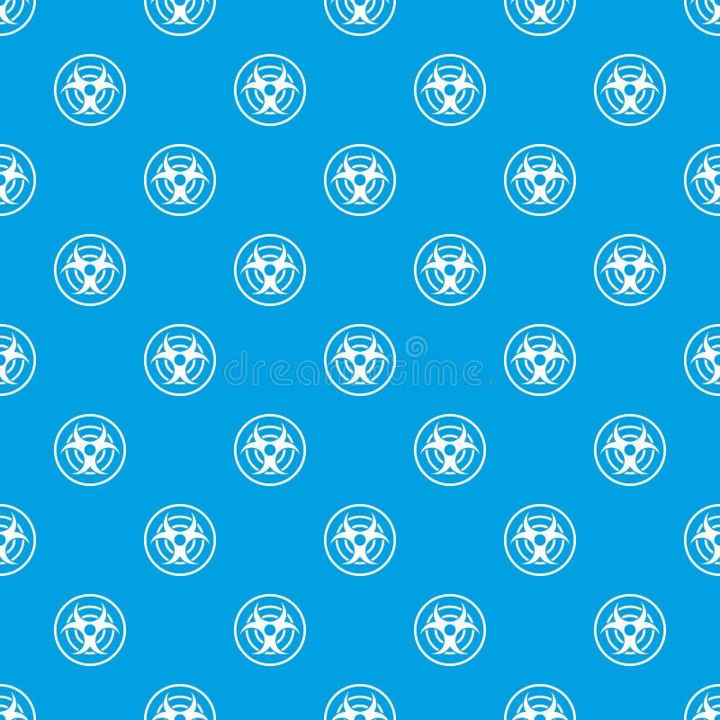 Teken van het biologische naadloze blauw van het bedreigingspatroon vector illustratie