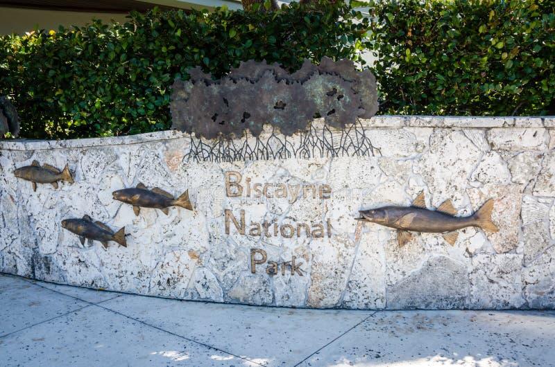 Teken van het Biscayne het Nationale Park - Florida royalty-vrije stock afbeeldingen