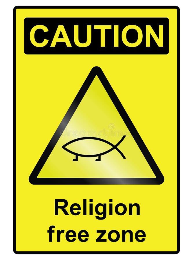 Teken van het godsdienst het vrije gevaar vector illustratie