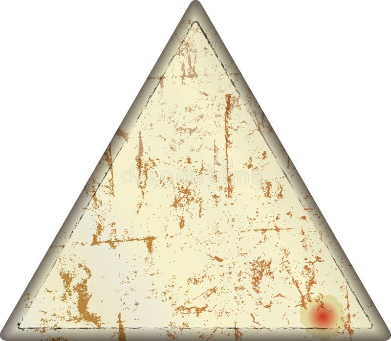 Teken van het Grunge het lege lege metaal, driehoekige, vrije exemplaarruimte, ontwerpsjabloon, vectorillustratie royalty-vrije illustratie