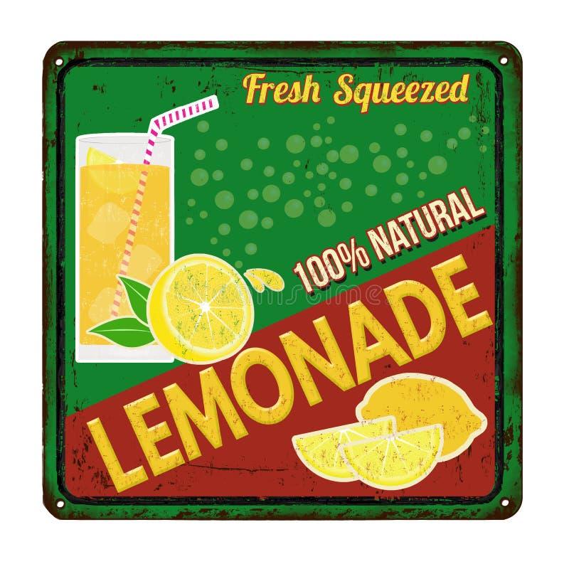 Teken van het limonade het uitstekende roestige metaal royalty-vrije illustratie
