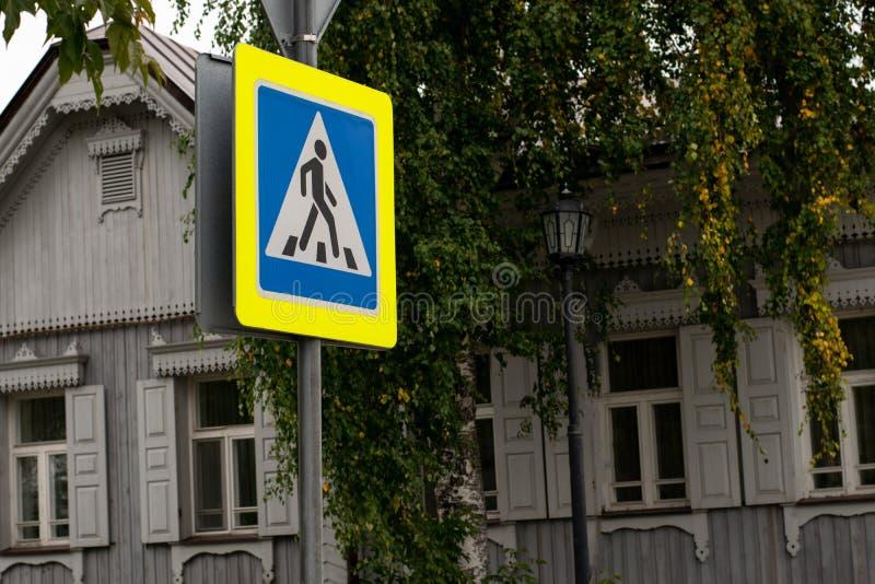 Teken van overgang voor een persoon in de stad royalty-vrije stock fotografie