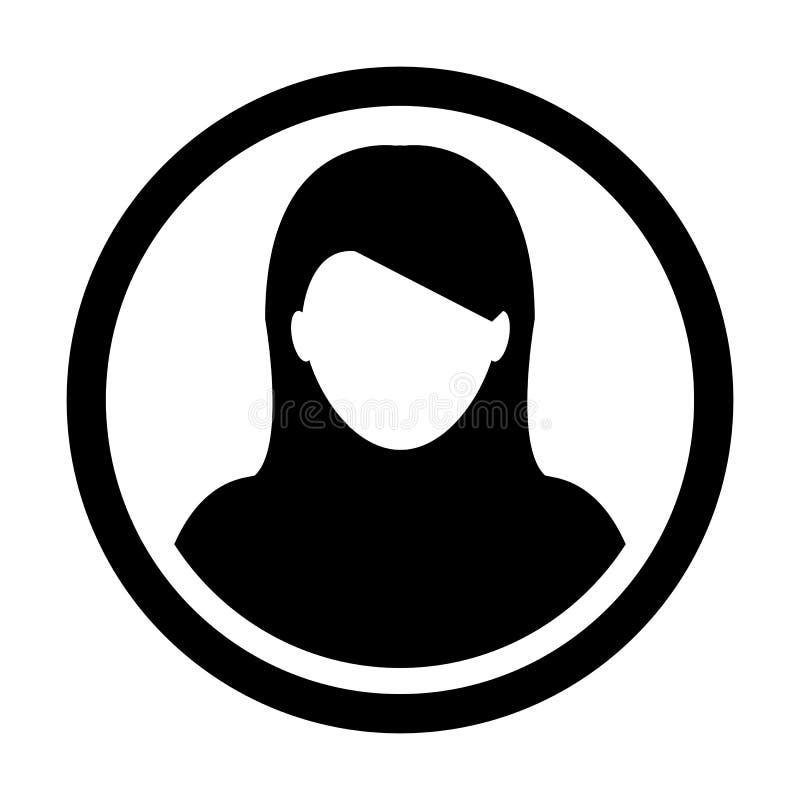 Teken Van Person Symbol Profile Circle Avatar Van Het