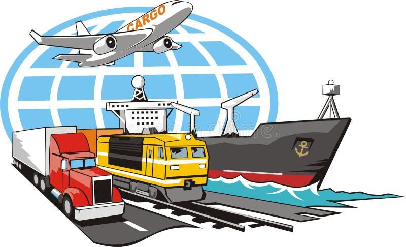 Teken van vervoerslading vector illustratie