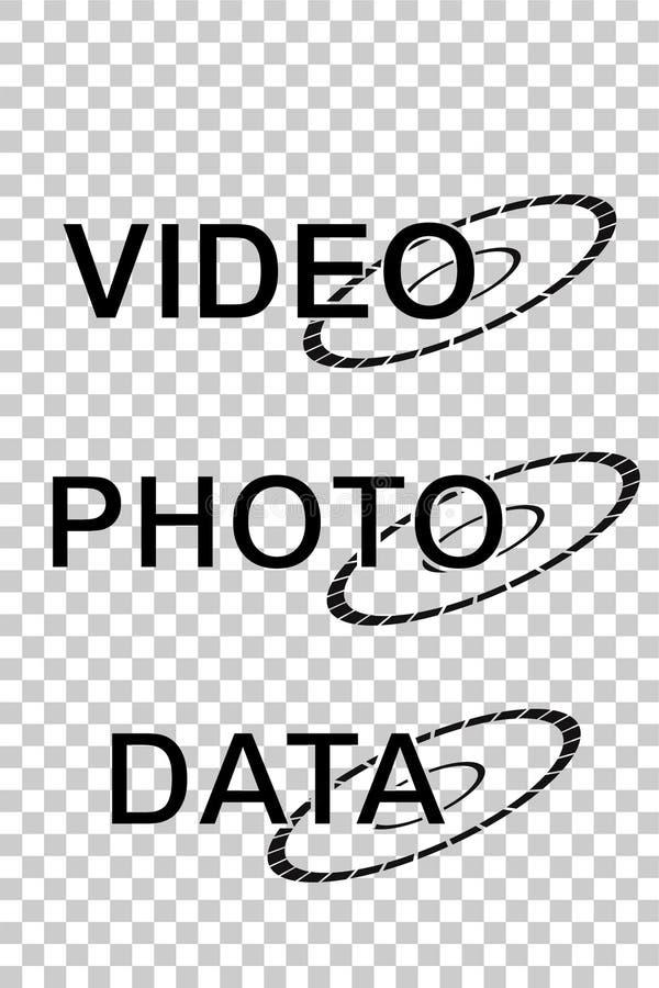 Teken voor de Video, de Foto en de Gegevens van DVD vector illustratie