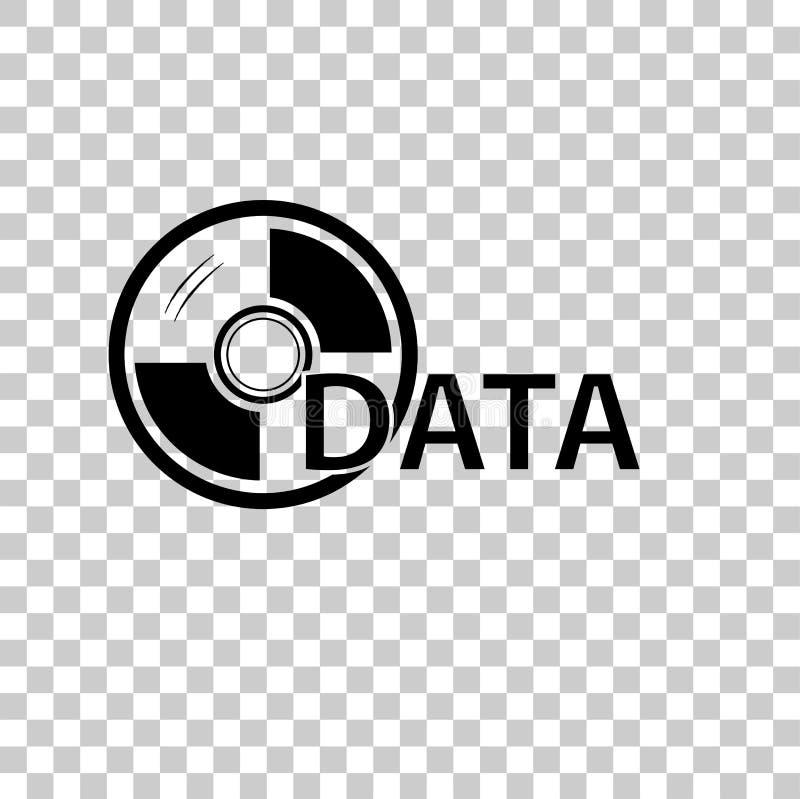 Teken voor DVD-Gegevens, bij Transparante Effect Achtergrond stock illustratie
