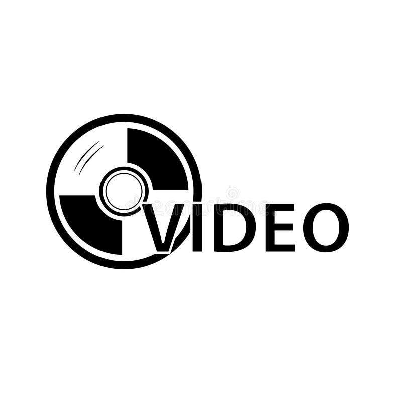 Teken voor DVD-Video, op Wit wordt geïsoleerd dat royalty-vrije illustratie