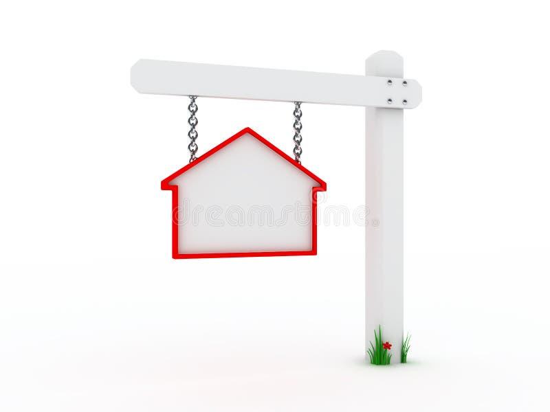 Teken voor huis op verkoop stock illustratie