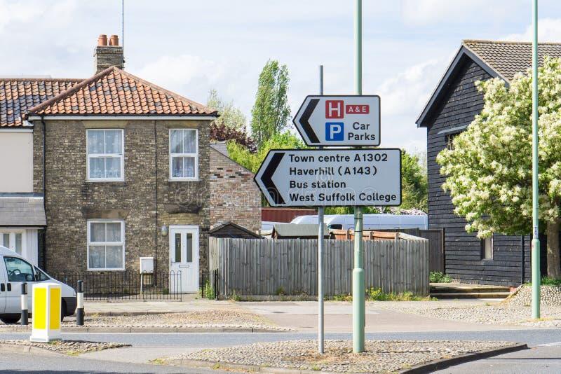 Download Teken Voor Stadscentrum En Busstation En Plaatsen In Bury St Edmun Stock Foto - Afbeelding bestaande uit engels, hospital: 54092570