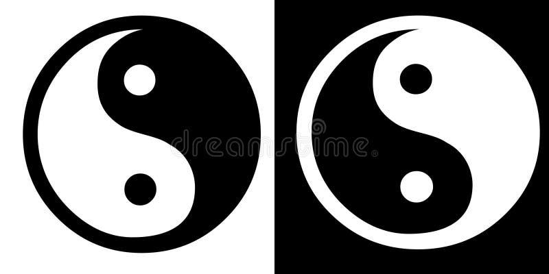 Teken ying-Yang royalty-vrije illustratie