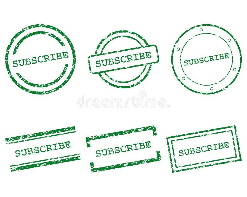 Teken zegels in stock illustratie