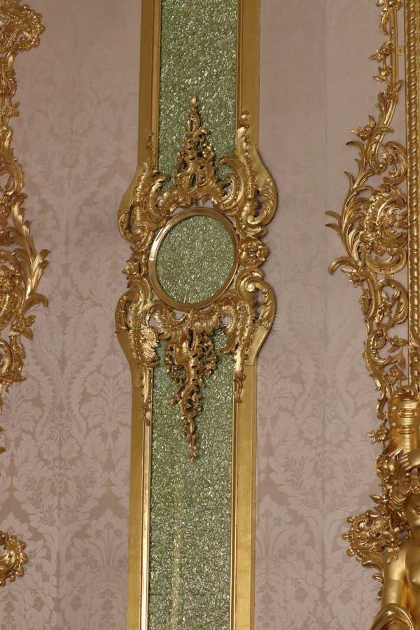 Tekening van Catherine palast in St. Petersburg in Rusland stock afbeeldingen