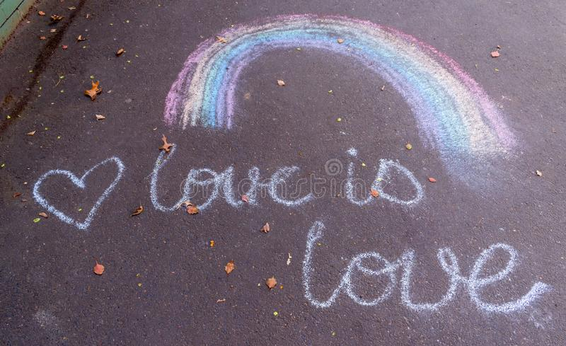 Tekening van een regenboog stock fotografie