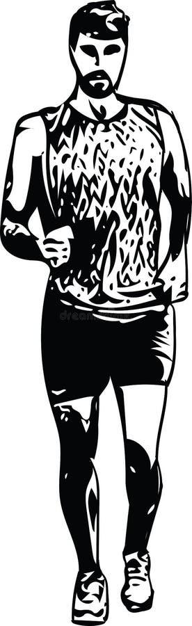 Download Tekening Van Het Runnen Van Mensensilhouet Vector Illustratie - Illustratie bestaande uit competition, levensstijl: 107706430
